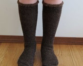 Extreme Alpaca wool socks - Super cozy warm and soft socks Size Small Dark Brown