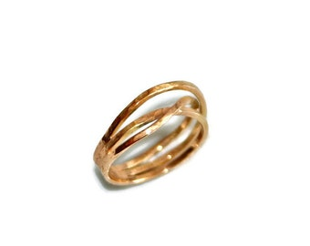 Crossover Ring in 18k Gold - Yellow or Rose Gold