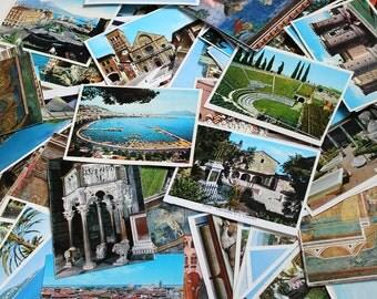 SALE - 30 Vintage Europe Snap Shot Souvenir Photos Grab Bag - Mixed Media, Art, Collage, Travel Journal Supplies