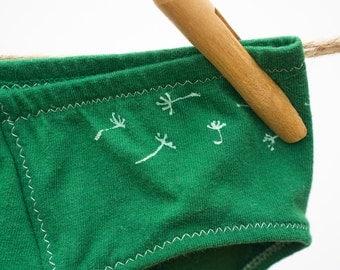 Dandelion Green Boy-Cut Underwear - Recycled Cotton - Women's 14 - Ready to Ship