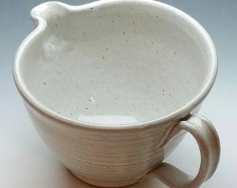 NEW White Ceramic Batter Bowl, Mixing Bowl, Handmade Pottery