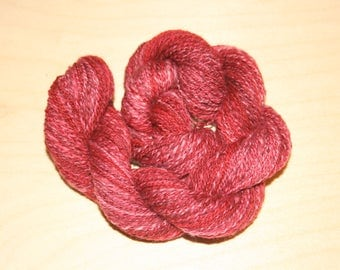 Dark Red Pink Purple Merino Handspun Yarn 110 Yds 2 ply #549