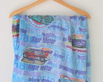 Vintage HOT WHEELS Fitted Set....bedding. sheet. fitted sheet. kids. cars. children. television. tv show. kids bedding. racing. boys bedding
