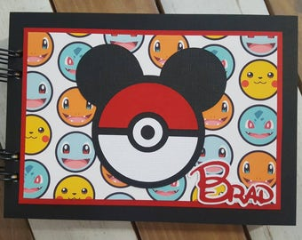 Personalized Disney Autograph Book Inspired by Pokémon