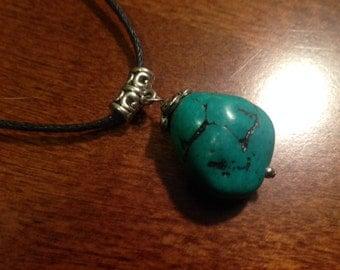 Jade Nugget Pendant Necklace