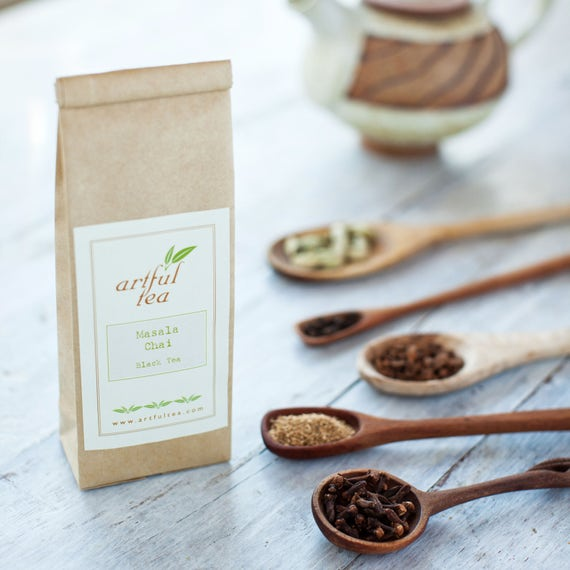 Masala Chai Black Tea • 4 oz. Kraft Bag • Loose Leaf Spiced Tea • Hand Blended w/ Cinnamon, Cardamom, Ginger & Cloves