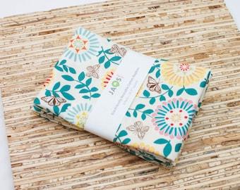 Large Cloth Napkins - Set of 4 - (N882) - Papillon Flower Butterfly Modern Reusable Fabric Napkins