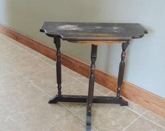 Side Wall Table three leg table   etsy