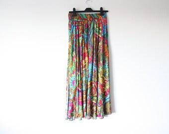 bright floral festival skirt