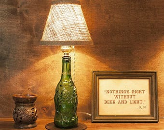 Lucky Buddha, Beer, Bottle Lamp, Free U.S. Shipping