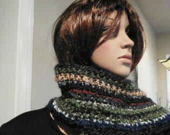Stunning  Scarf Neck Warmer Soft and Thick Ready to Ship