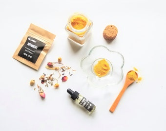 Spa Gift Set with Face Mask Mixing Dish and Spoon, Facial Serum and Floral Facial Steam