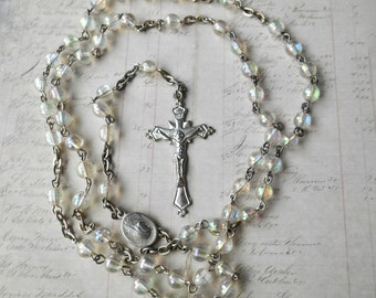 Rosary Chain, Rosary Necklace, Vintage Rosary, Vintage Jewelry