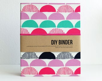 Binder Planner 6x8 (A5 sized) 2-Ring Folder with 2 FREE Refill Packs - Scallop