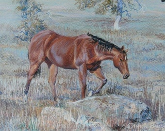 EIGENE Pferd Porträt / Pastell Porträt / Geschenk für Freund / Geschenk für Papa / Geburtstagsgeschenk / Geburtstagsgeschenk / für ihr Geschenk / Geschenke für ihn