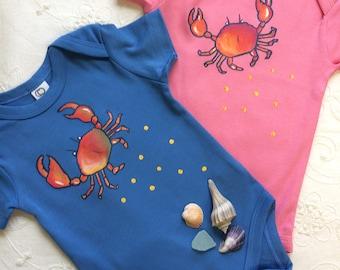 Crabby Baby Organic Cotton Bodysuit, Perfect baby shower Gift