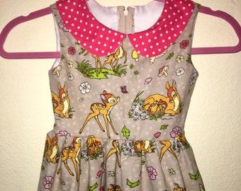 Bambi Girls Retro Dress - 9 Prints Available custom fabrics available! ... Disneybound, Rockabilly Kid, Family Photos, Birthday Dress