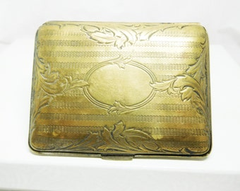 Antique Dance Purse Coin Card Case German Silver 1920's Flapper New York