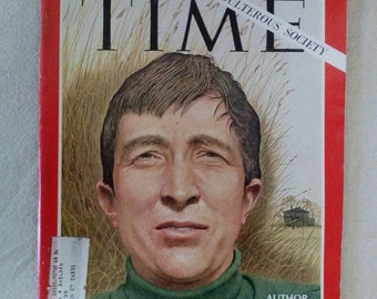 Collectible Time Magazine April 26, 1968 Author John Updike Cover Very Good Condition Great Ads