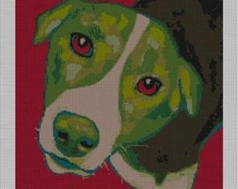 Elton Dog Needlepoint Canvas