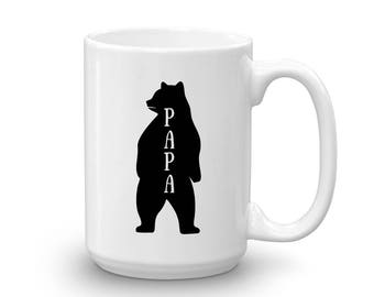 Papa Bear standing tall Mug, Studio 336, gift, 11oz, 15oz