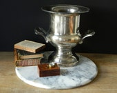 Vintage Silver Plated Horse Racing Trophy. Loving Cup. Equestrian. Home Decor.