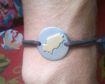 Bracelet silver 925 with gold plated Ibiza Island