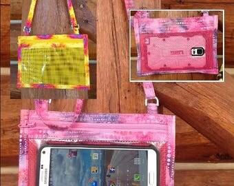 Hold The Phone! Crossbody Smartphone Case in Bright Yellow/Orange/Purple