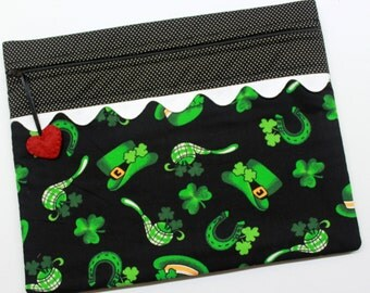 St Patrick's Day Cross Stitch Embroidery Project Bag