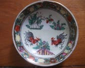 sale ANTIQUE CHINESE BOWL,handpainted dipping bowl, made in Macau