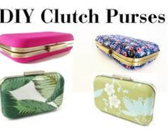 DIY clutch purses, make it yourself, clutch purse tutorial, diy tutorial, diy purse, diy clutch, kit, DIY clutch purse, clamshell clutch