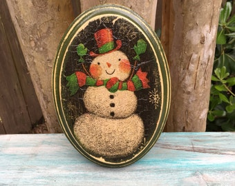 Christmas Wall Decor - Christmas Snowman - Christmas Gift - White Elephant Gift - Christmas Gift - Frosty The Snowman Decor