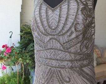 Plus size 1920s flapper great gatsby wedding dress