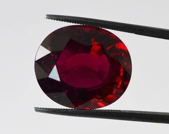 Rubellite Tourmaline 18 carat Faceted Oval