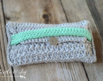 Color Pop Clutch Crochet PATTERN PDF DOWNLOAD