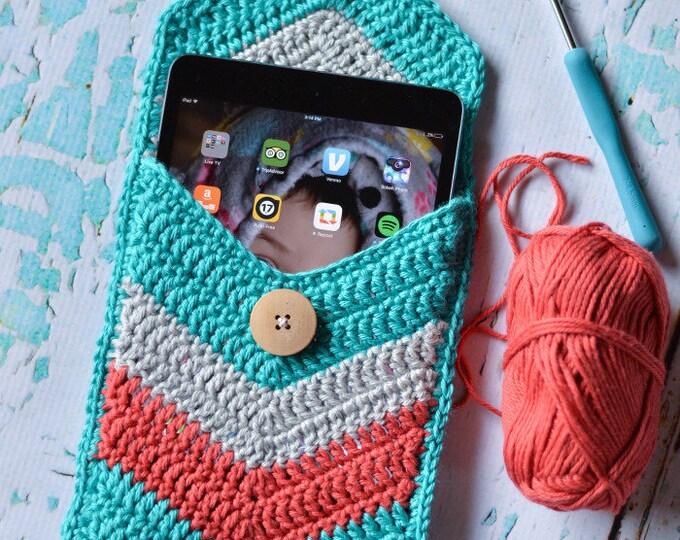 Chevron Tablet Case Crochet PATTERN PDF DOWNLOAD