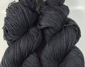 Coco Fingering, Hand Dyed Yarn, Fingering Weight, Superwash Merino, Ultra Soft Merino, Yarn, Hand Painted, 100g, Speckled, Charcoal