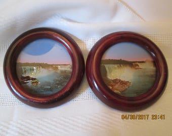 Vintage Niagara Falls Drink Coasters, Wooden Niagara Falls Coasters, Home Decor