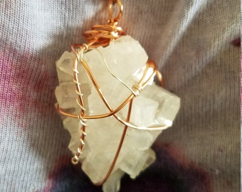 Super Awesome Apophyllite Wire Wrapped Pendant