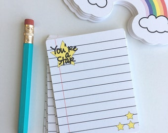Notecards ~ Stickers ~ you're a star note cards ~ planner stickers ~ planner supplies ~ project life ~ teacher ~ happy mail ~ item PW007