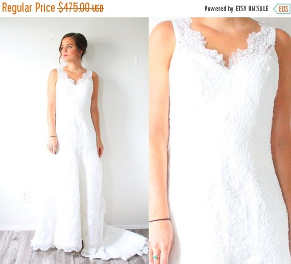 20 off black friday sale vintage boho wedding by for Black friday wedding dresses