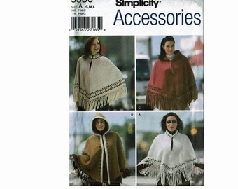 Misses Capes and Ponchos Uncut Sewing Pattern S 10-12 M 14-16 L 18-20 Bust 32 1/2-42 Simplicity Accessories 5330 OOP