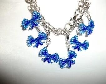 Blue Two Tone Ribbon Charms