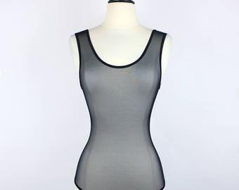 The Piper Bodysuit in Black Hexxx Mesh