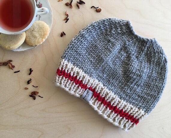 Work Sock Hat Knitting Pattern : Knitting pattern mom messy bun hat