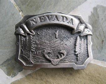 Nevada Belt Buckle. Great American Buckle Co. Free US Shipping