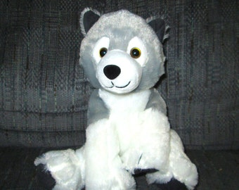 White Wolf Plush Etsy