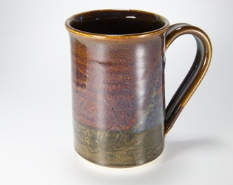 Brown coffee cup with horse image coffee mug tea mug item #1001