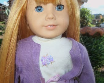 "American Girl -ooak-extra long-18""-100%-european human hair"