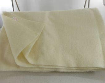 "Sheer Wool CHATHAM Blanket Ivory Cream 92"" X 88"" Light All Season"